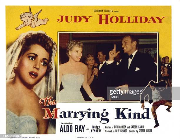 The Marrying Kind US lobbycard Judy Holliday left center from left Judy Holliday Aldo Ray 1952