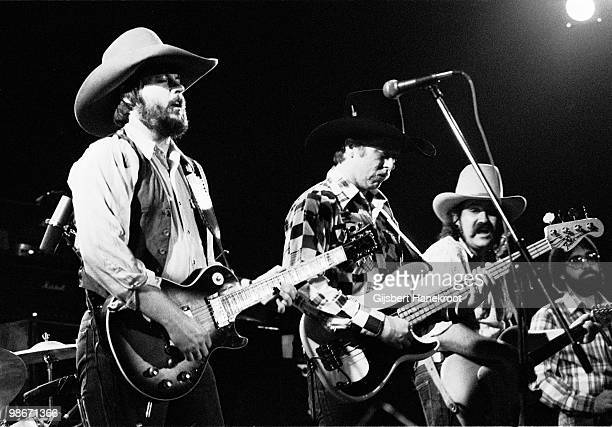 The Marshall Tucker Band perform live on stage in Amsterdam Netherlands in 1975 LR Toy Caldwell Tommy Caldwell George McCorkle