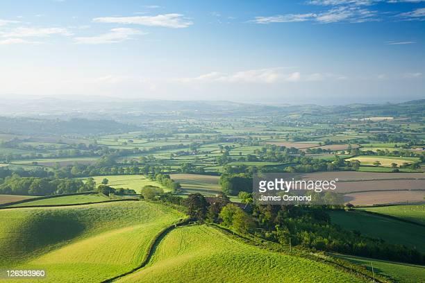 The Marshwood Vale from Pilsdon Pen. Dorset. England. UK.