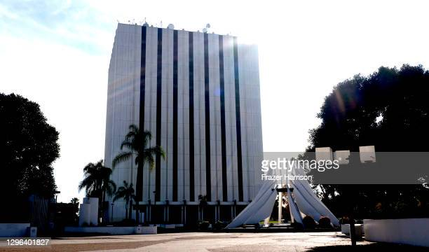 The Martin Luther King Jr. Memorial at The City of Compton Courthouse and Library. The City Of Los Angeles Honors And Remembers Martin Luther King...