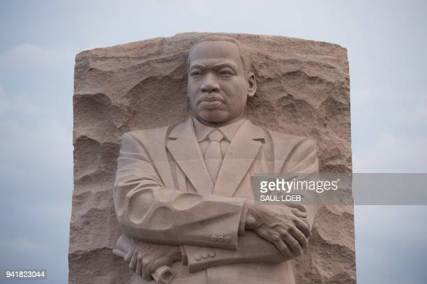 The Martin Luther King Jr Memorial is seen on the 50th anniversary of the assassination of Rev Martin Luther King Jr in Washington DC April 4 2018 /...