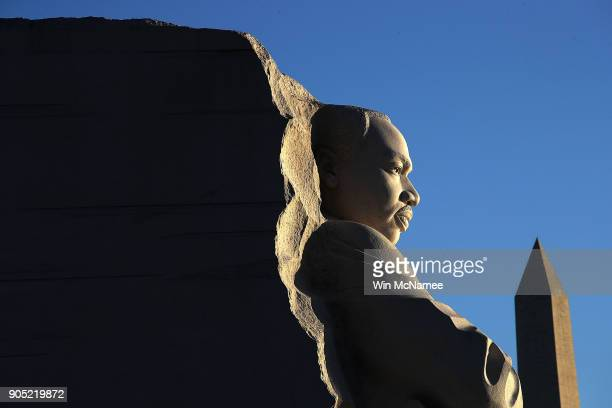 The Martin Luther King Jr Memorial is shown in the early morning light on Martin Luther King Day January 15 2018 in Washington DC Martin Luther King...