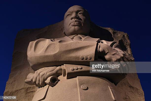 The Martin Luther King Jr Memorial is shown on the 44th anniversary of King's assassination April 4 2012 in Washington DC Today marks the first time...