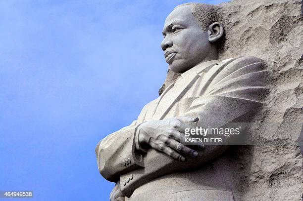 The Martin Luther King statue is seen at the MLK Memorial on February 28 2015 in Washington DC AFP PHOTO / KAREN BLEIER