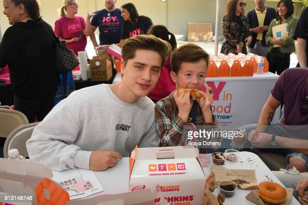 The Martinez Twins attend the Starlight Children's Foundation's DesignaGown Launch Event at LACUSC Medical Center on February 1 2018 in Los Angeles...