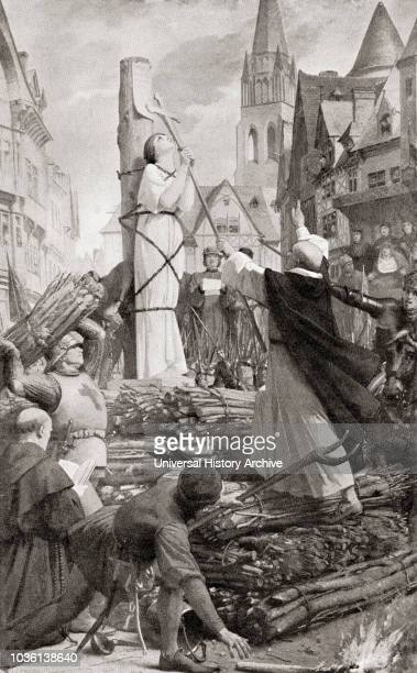 The martydom of Joan of Arc Joan of Arc c 1412 1431 aka The Maid of Orleans Heroine of France for her role during the Lancastrian phase of the...