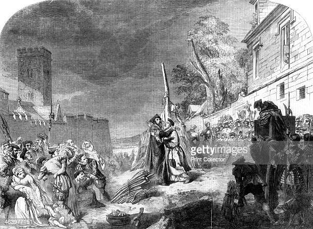 The martyrdom of Ridley and Latimer 1856 Nicholas Ridley English clergyman and Hugh Latimer Bishop of Rochester and Bishop of Worcester were burned...