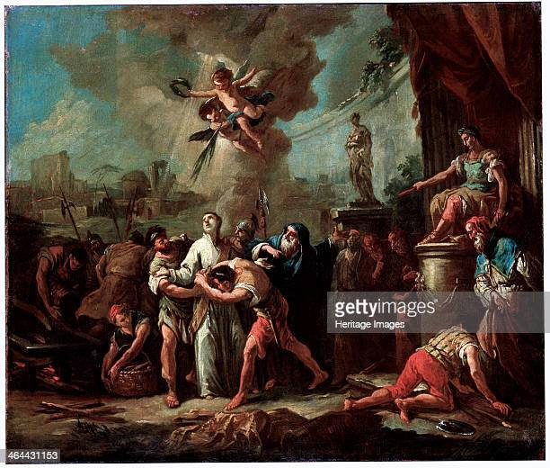 'The Martyrdom of Saint Lawrence', 18th century. St Laurence was Deacon of the Christian church in Rome. Under the persecution of Valerian in 258 he...