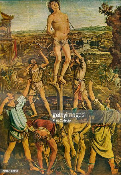 The Martyrdom of Saint Sebastian 1475 Painting held in The National Gallery London From A History of Painting Vol 1 by Haldane MacFall [TC and EC...