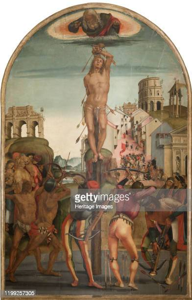 The Martyrdom of Saint Sebastian, ca 1498. Found in the Collection of Pinacoteca Comunale, Città di Castello. Artist Signorelli, Luca .