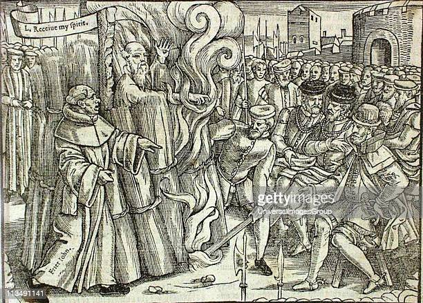 The martyrdom of Thomas Cranmer Archbishop of Canterbury at Oxford 21 March 1556 Responsible for the liturgy of the Protestant Church of England and...