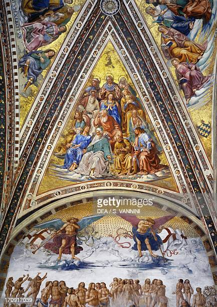 The martyrs patriarchs the doctors of the church and the virgins and the Resurrection of the Flesh 14991504 by Luca Signorelli frescoed vaults the...
