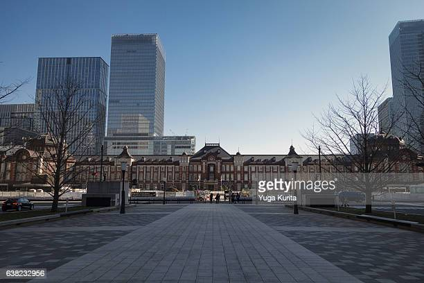 The Marunouchi Exit of the Tokyo Station from Gyoko Street