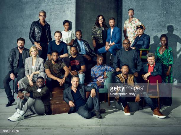 The Marvel Stars of Comic Con 2017 Karl Urban Cate Blanchett Jeff Goldblum Daniel Kaluuya Chadwick Boseman Tom Hiddleston Letitia Wright Director...