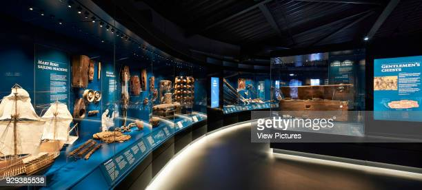 The Mary Rose Museum Portsmouth United Kingdom Architect Wilkinson Eyre Architects 2013 Exhibition gallery with artefact display