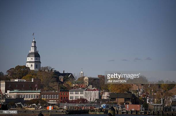 The Maryland State Capitol Building is seen in Annapolis 23 November 2007 33 miles east of Washington DC Fortynine nations organizations and...