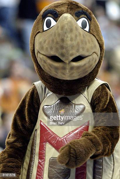 The Maryland Terrapins mascot during the second round game of the NCAA Division I Men's Basketball Tournament against the Syracuse Orangemen at the...