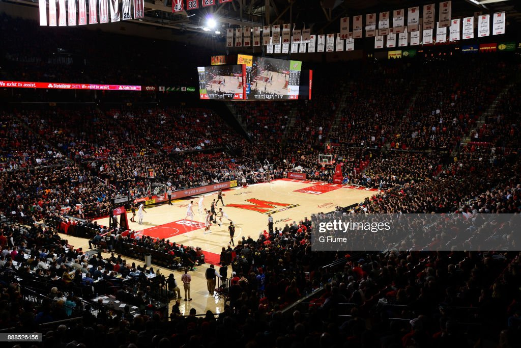 The Maryland Terrapins play against the Butler Bulldogs at