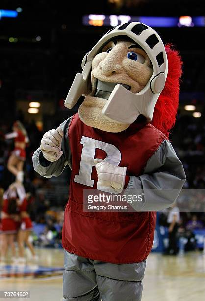 The mascot for the Rutgers Scarlet Knights performs against the LSU Lady Tigers during the National Semifinal game of the 2007 NCAA Women's Final...