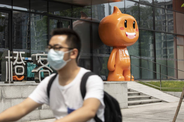 CHN: Alibaba and Ant Group Offices Ahead of First-Quarter Results