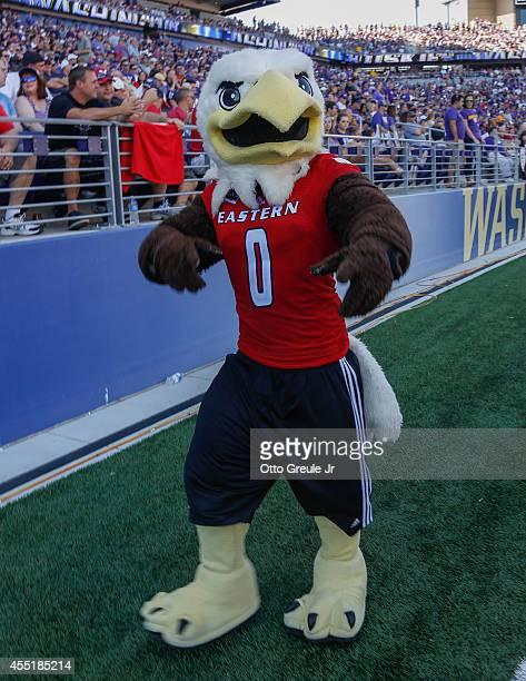 The mascot of the Eastern Washington Eagles looks on against the Washington Huskies on September 6, 2014 at Husky Stadium in Seattle, Washington.
