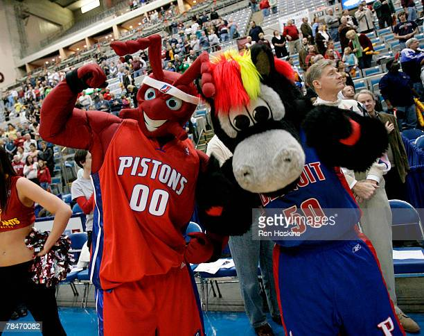 The Mascot of the Fort Wayne Mad Ants joined forces with the Detroit Pistons Mascot as the Mad Ants took on the Dakota Wizards at Allen County War...