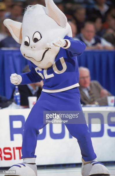 The Mascot of the St Louis Billikens moves on the court during the first round of the NCAA Tournament Game against the Utah Runnin Utes at the...