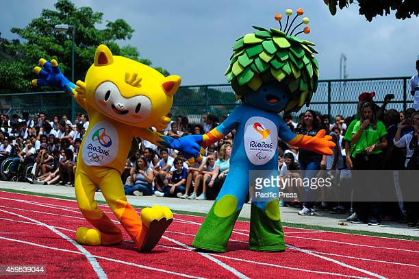 The mascots for 2016 Games made its first public appearance in a municipal school in Rio de Janeiro the Gym experimental Olympic Juan Antonio...