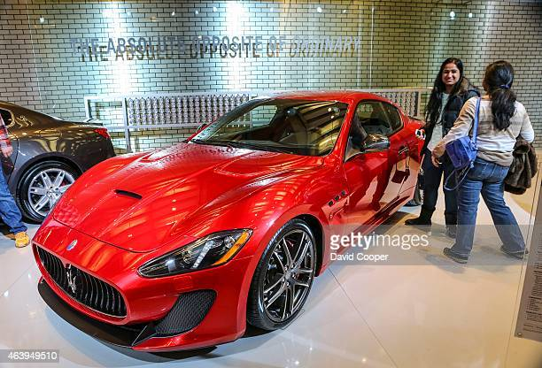 The Maserati exhibit showing off four cars including the GranTurismo MC Centennial Edition AutoExotica brings super luxury cars to the 2015 edition...