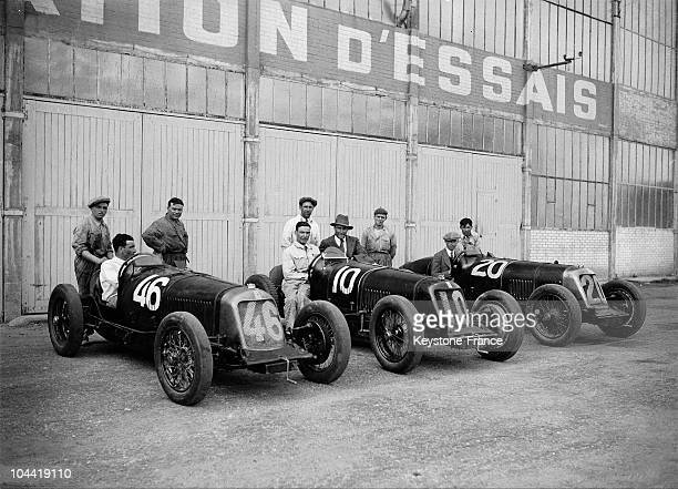 The Maserati Team With It'S Three Cars At The Montlhery Grand Prix In France 1931