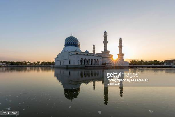 The Masjid Bandaraya or Kota Kinabalu City Mosque in Malaysia