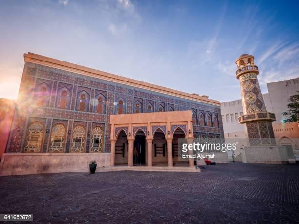 the masjid (mosque) of katara, katara cultural village, doha, qatar - qatar stock pictures, royalty-free photos & images