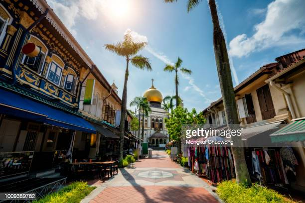 the masjid sultan mosque located in kampong glam in singapore city. - singapore city stock pictures, royalty-free photos & images
