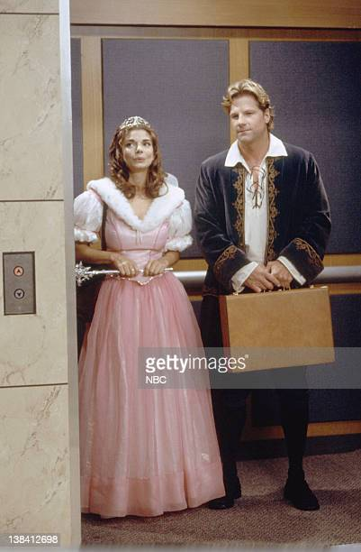 ME The Mask Episode 3 Aired 10/27/98 Pictured Laura San Giacomo as Maya Gallo Mark Dobies as Prince Charming