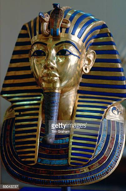 The mask of King Tutankhamun displayed in the Cairo Museum Egypt