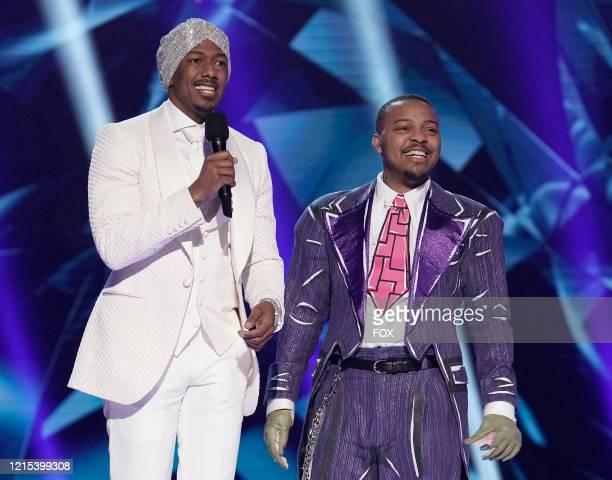 LR Host Nick Cannon and Bow Wow in the Couldnt Mask For Anything More The Grand Finale season finale episode of THE MASKED SINGER airing Wednesday...