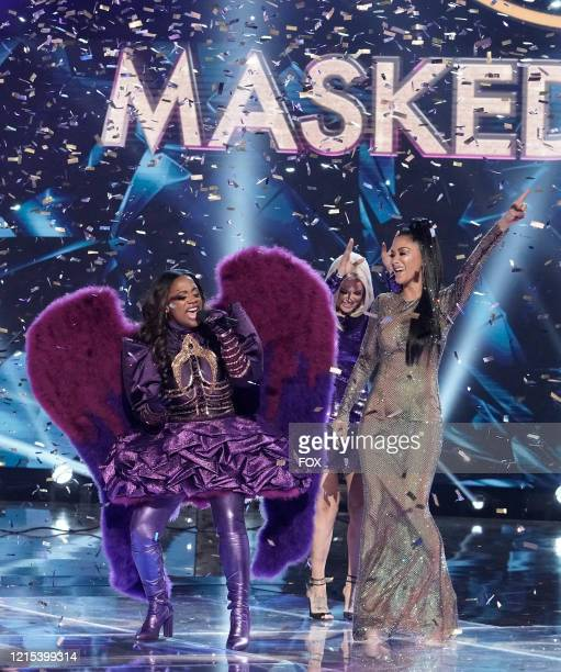 LR Kandi Burruss and Nicole Scherzinger in the Couldnt Mask For Anything More The Grand Finale season finale episode of THE MASKED SINGER airing...