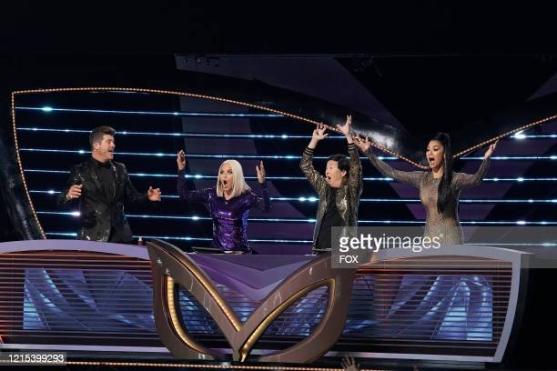 LR Robin Thicke Jenny McCarthy Ken Jeong and Nicole Scherzinger in the allnew Couldnt Mask For Anything More The Grand Finale season finale episode...