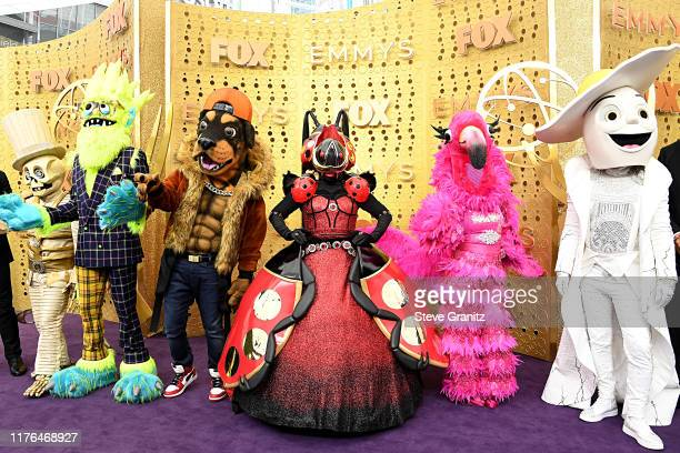 'The Masked Singer' mascots attend the 71st Emmy Awards at Microsoft Theater on September 22 2019 in Los Angeles California