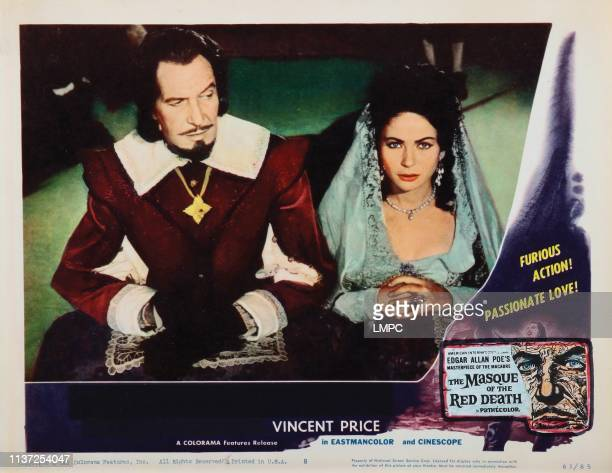 The Masque Of The Red Death lobbycard from left Vincent Price Hazel Court 1964