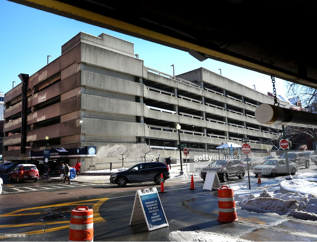 The Massachusetts General Hospital garage in Boston is pictured on