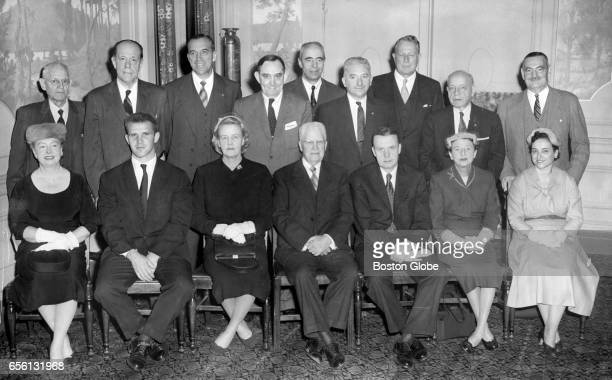 The Massachusetts presidential electors who elected Dwight D Eisenhower as president and Richard Nixon as vice president Dec 16 1956 Seated left to...