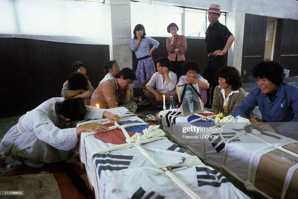 The massacre in Kwangju, in which lots of people, most of them young students, were killed and many more injured, tortured, imprisoned by the South Korean military after an uprising against the Chun Doo Hwan dictatorship, May 1980 in Gwangju,South Korea. .