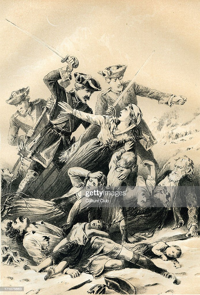 The Massacre of Glencoe occurred in Glen Coe, Scotland, on the 13 February 1692. In all, 38 men were murdered either in their homes or as they tried to flee the glen. Another 40 women and children died of exposure after their homes were burned.