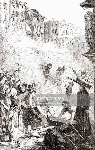 The Massacre Of Protestants At Barletta Italy In 1866 From The Book Of Martyrs By John Foxe Published C1865