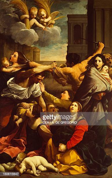 The massacre of the innocents 16111612 by Guido Reni oil on canvas 268x170 cm