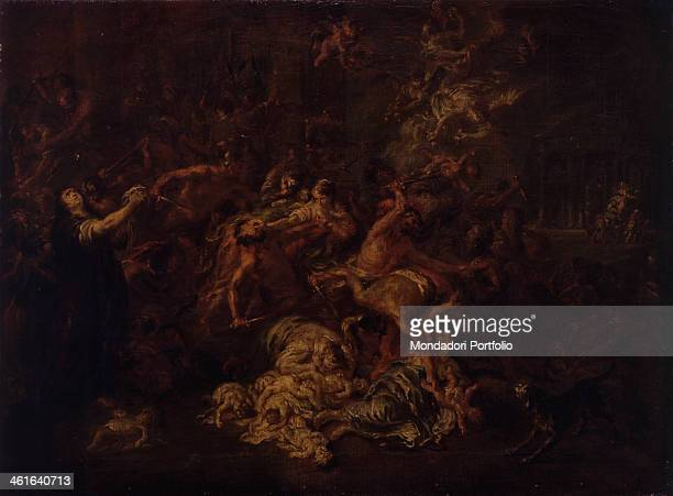 The Massacre of the Innocents by Martin Johann Schmidt also known as Kremserschmidt 18th Century oil on canvas 42 x 56 cm Italy Lombardy Milan...