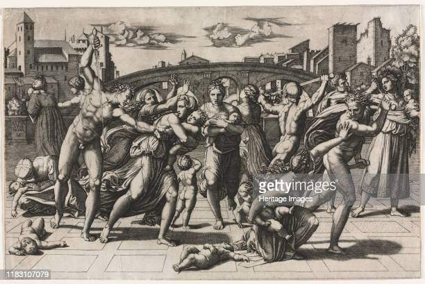 The Massacre of the Innocents circa 15131515 Raphaels choice of subject for this print may have been a deliberate strategy to promote himself as...