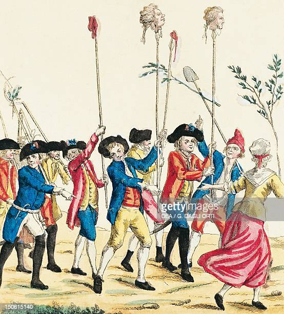 The massacre of Versailles October 5 engraving French Revolution France 18th century