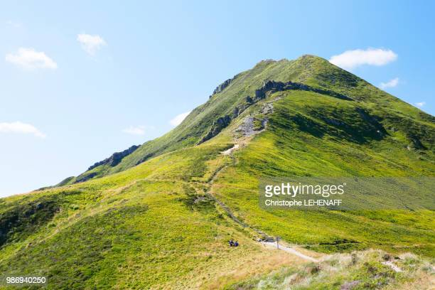 the massif central. cantal. view of the top of the puy mary and its southeast side. - cantal stock pictures, royalty-free photos & images